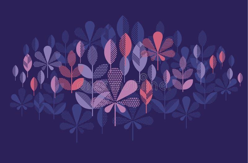 Motif moderne de la géométrie de chute de feuille d'automne dans la couleur vive lumineuse Le VE illustration de vecteur