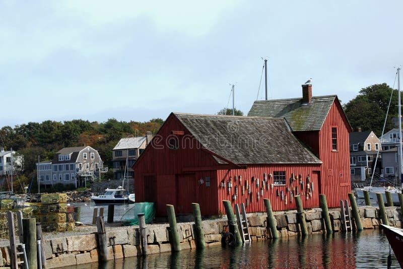 Motif 1 fishing shack Rockport Massachusetts stock photo