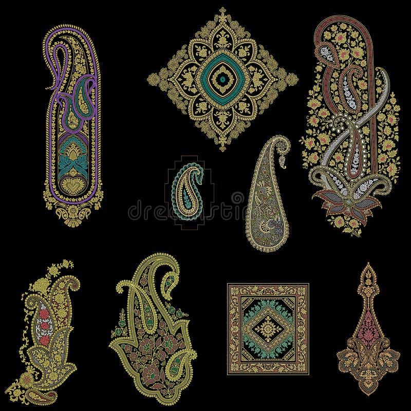 Motif traditionnel sans couture de Paisley illustration stock