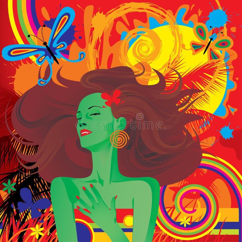 Motif tropical illustration libre de droits
