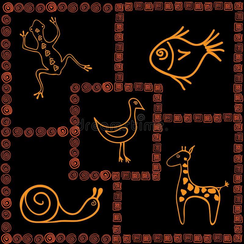 Motifs africains image stock