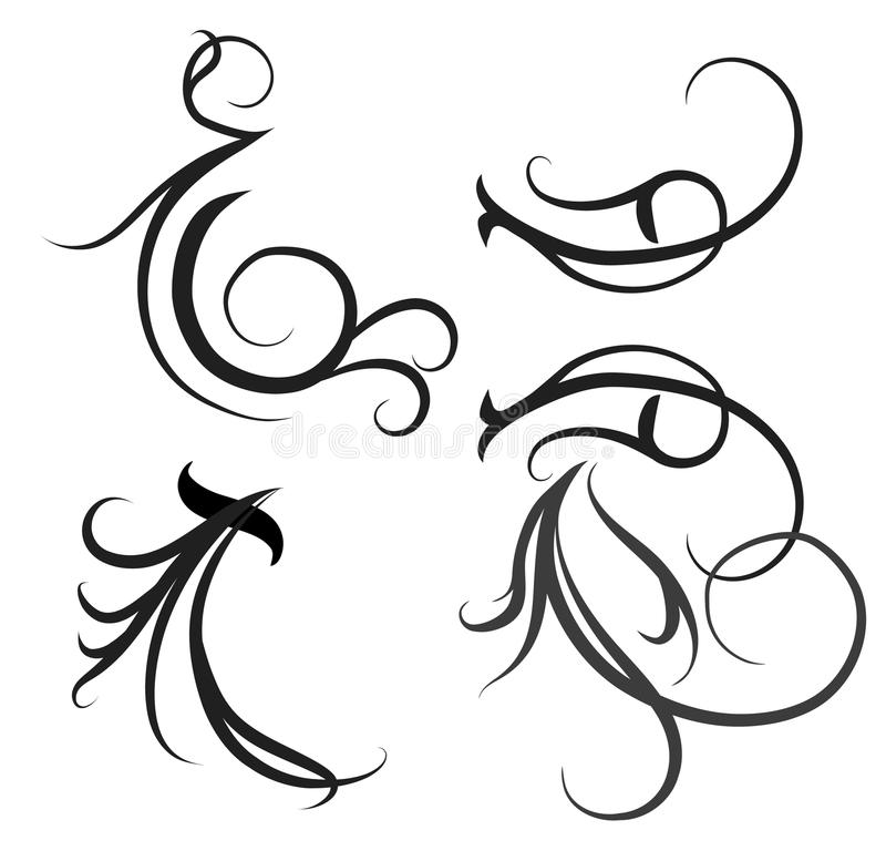 motifs décoratifs illustration libre de droits