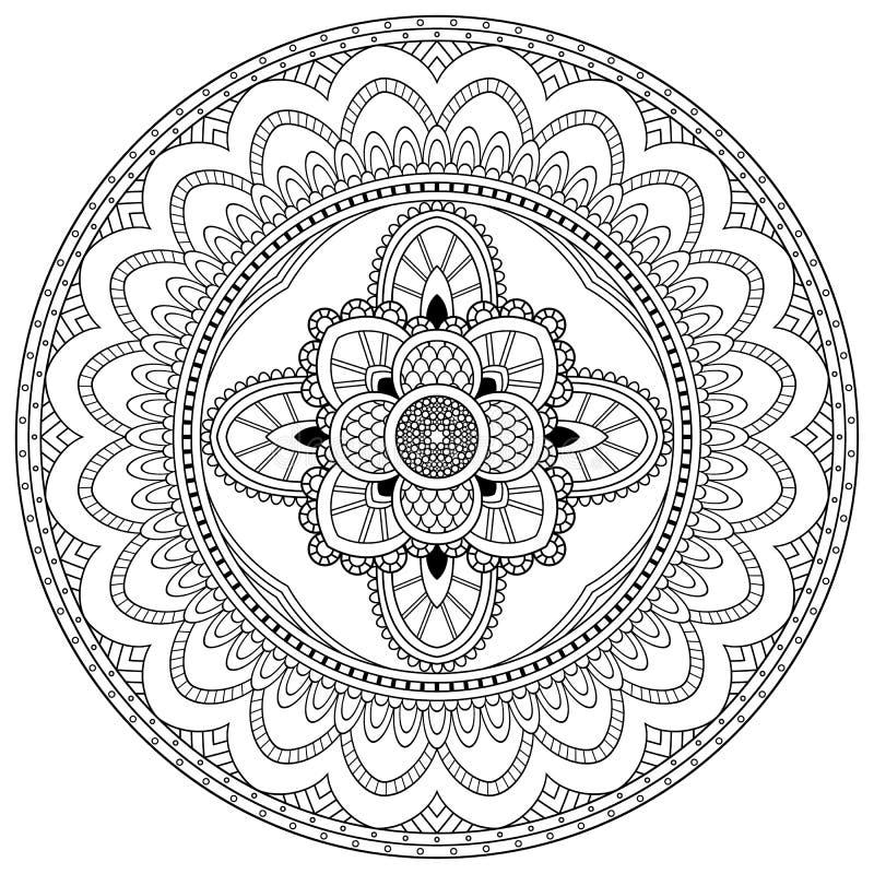 Motifs de mandala de fleur l ments d coratifs de cru - Modele de mandala ...