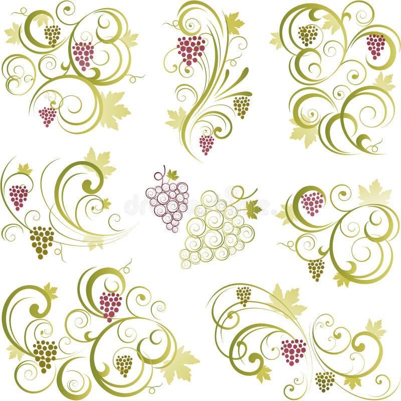 Motifs de vigne illustration stock