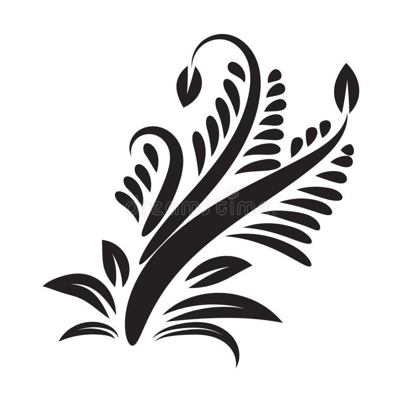 Motifs floraux d'?l?ment de vecteur Ornemental floral Fleur vecteur de sch?ma ornementale illustration stock