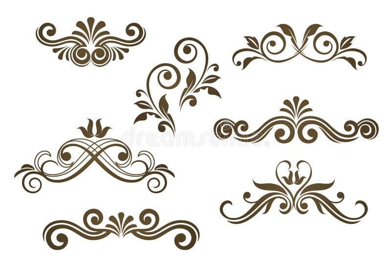 motifs floraux de cru illustration de vecteur illustration du lame 20140005. Black Bedroom Furniture Sets. Home Design Ideas