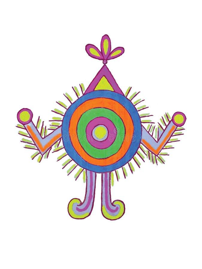 Motifs folkloriques indiens illustration stock