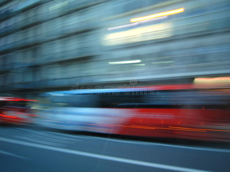 Motion blur. In Barcelona, Spain royalty free stock images