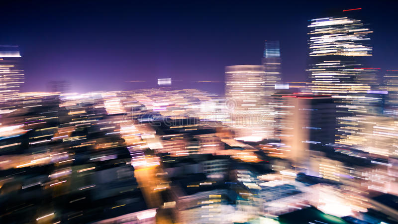 Motion Blur of City Lights royalty free stock photo