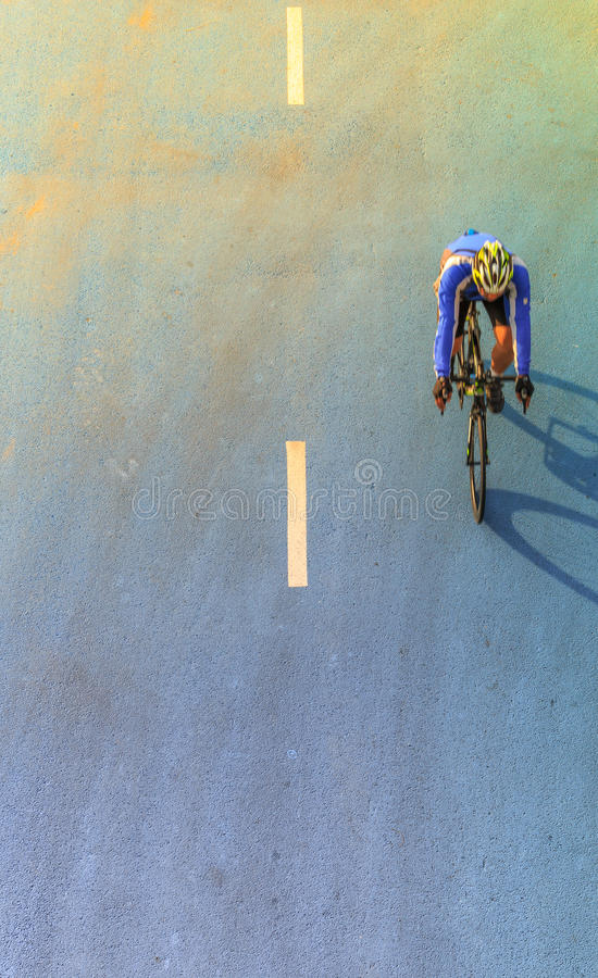 Motion blur of cyclist during the race stock photography