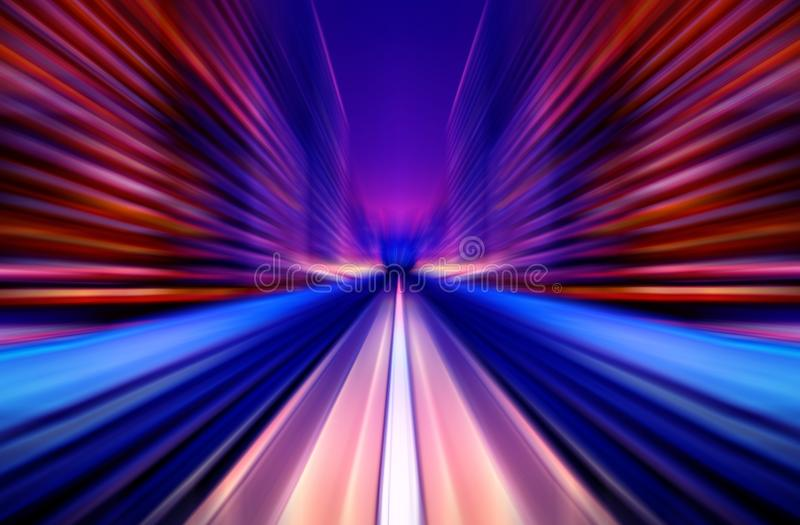 Motion blur future vehicle moving in city road or rail. Motion blur background abstract. Future concept stock image