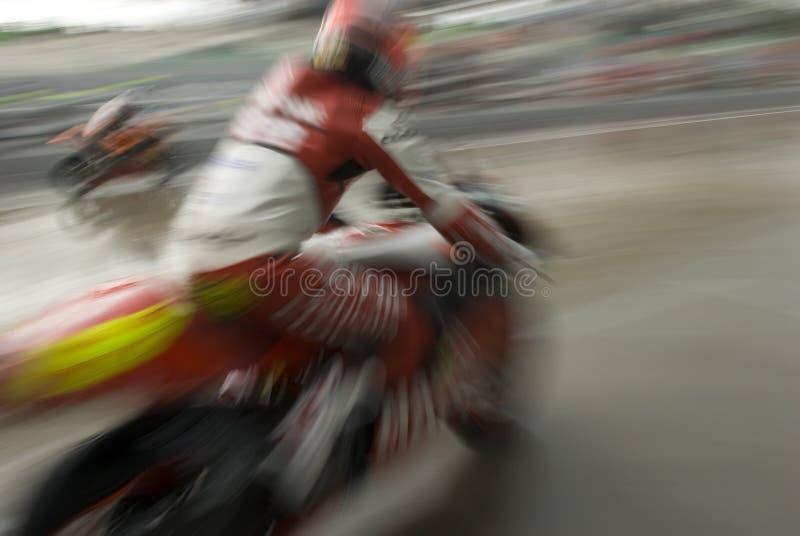 Download Motion Blur Of Motorbike Racer. Stock Image - Image: 7973567