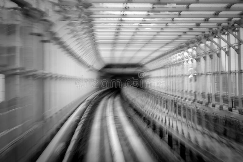 Motion blur of train stock photography