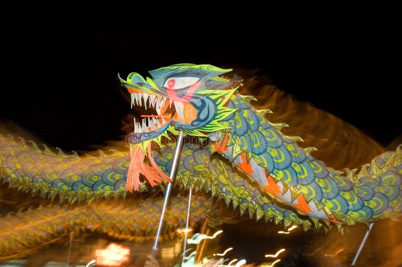 Motion blurr dragon dance royalty free stock photography