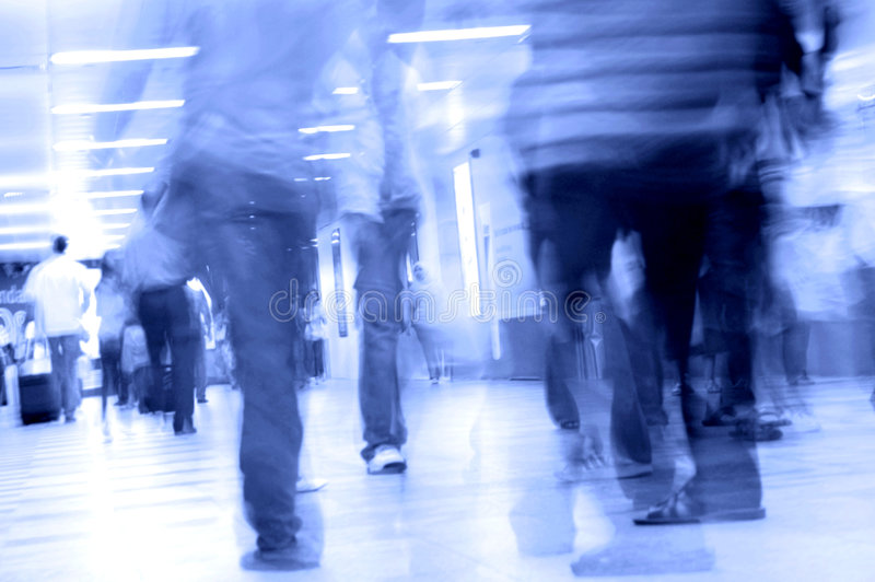 Download Motion blurred stock image. Image of commuters, blurred - 4510483