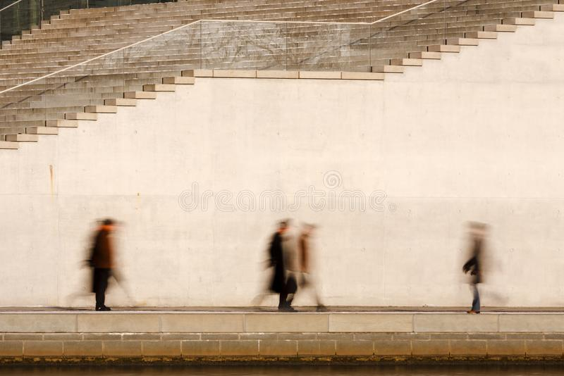 Motion Blurred Business People royalty free stock photography