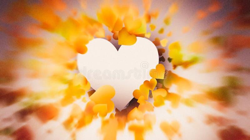 Motion Blurred Orange and Brown Valentines Day Background Image. Beautiful elegant Illustration graphic art design vector illustration