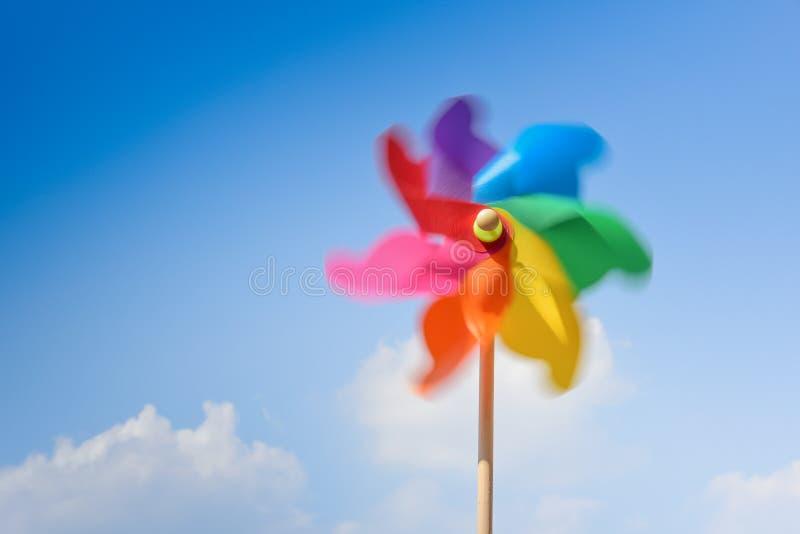 Motion blurred of pinwheel royalty free stock photos