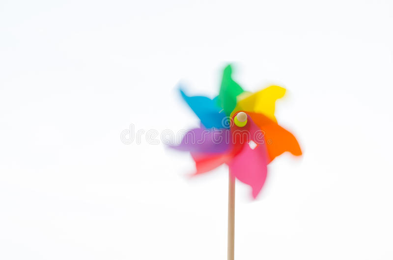 Motion blurred of pinwheel royalty free stock photos