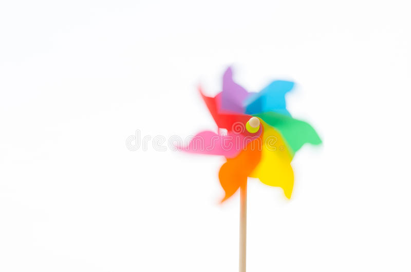 Motion blurred of pinwheel royalty free stock photo