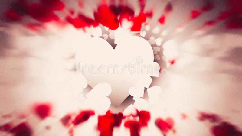 Motion Blurred Red and Brown Heart Wallpaper Background 皇族释放例证