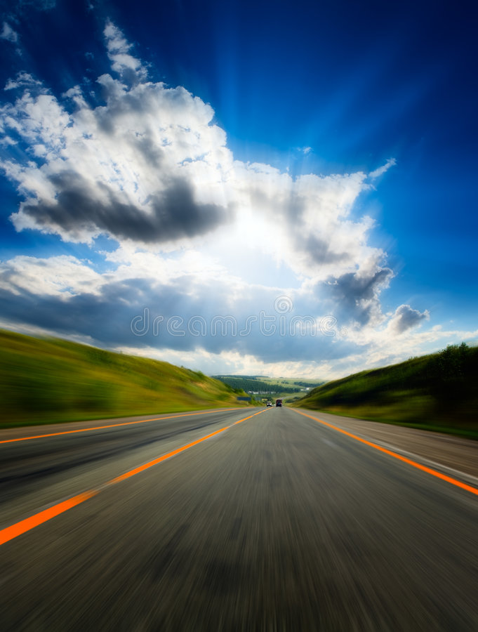 Free Motion Blurred Road Stock Photos - 7730013