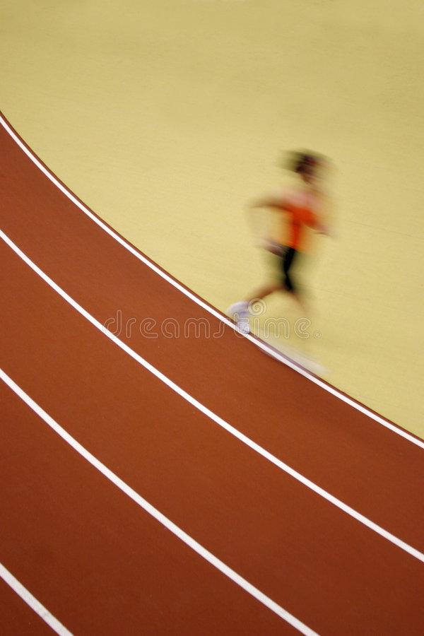 Motion blurred runner royalty free stock photo