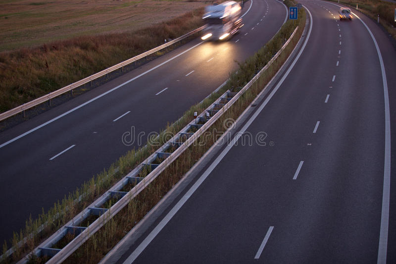 Download Motion Blurred Truck On A Highway Stock Photo - Image: 17656734