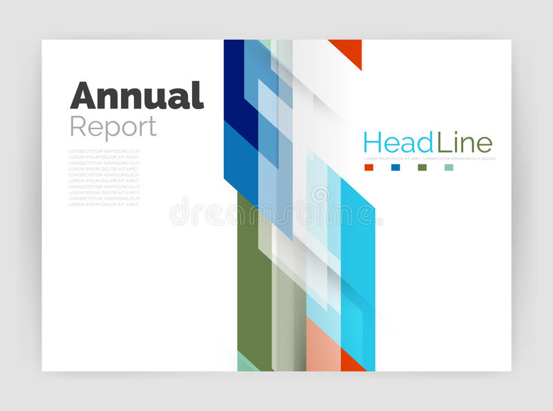 Motion concept. Business annual report cover templates. Brochure or flyer layout royalty free illustration