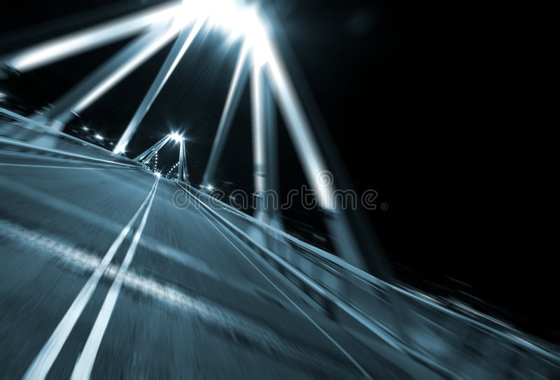 Download Motion fast on bridge stock photo. Image of motion, city - 5206624