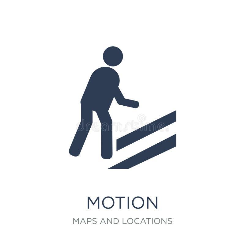 Motion icon. Trendy flat vector Motion icon on white background stock illustration