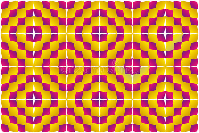 Motion illusion (Expansion). Op Art. Optical illusion, expansion, bulge and distortion. Hypnotic illusion. Abstract background, seamless pattern vector illustration