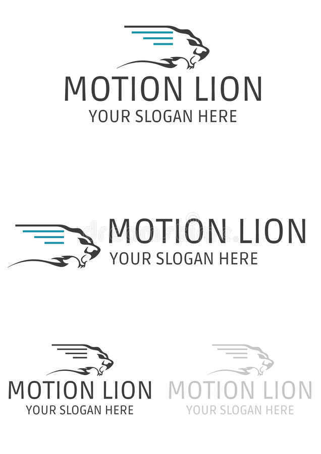 Motion lion logo royalty free stock images