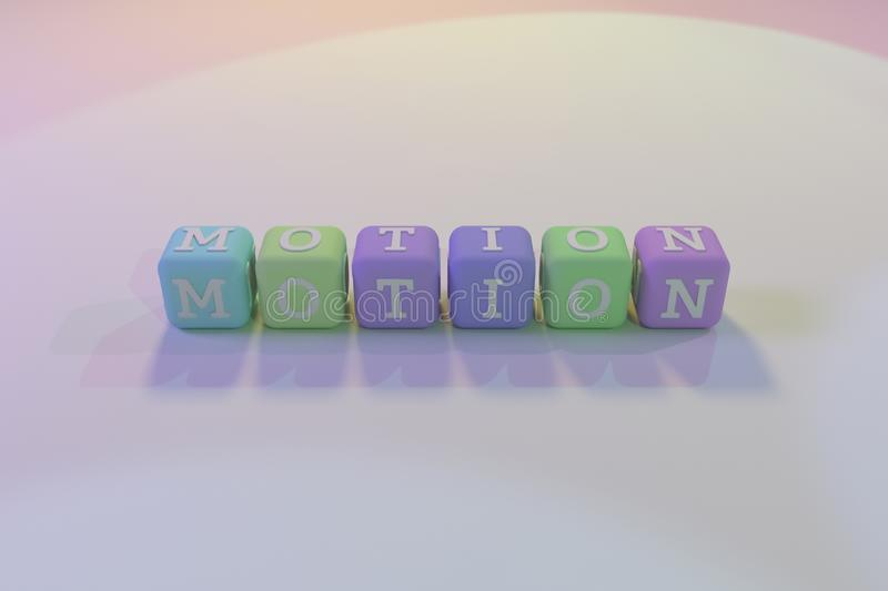 Motion, motivation keyword. For web page, graphic design, texture or background vector illustration