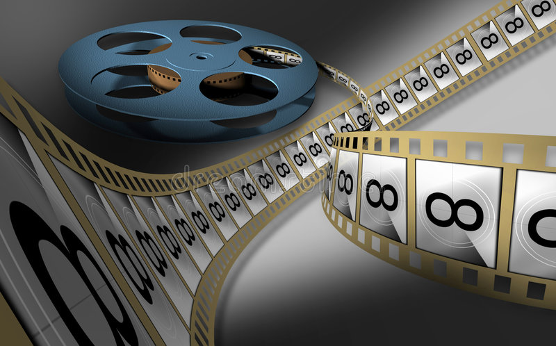 Motion-picture positive stock illustration