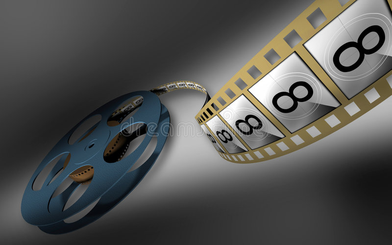 Motion-picture positive royalty free illustration