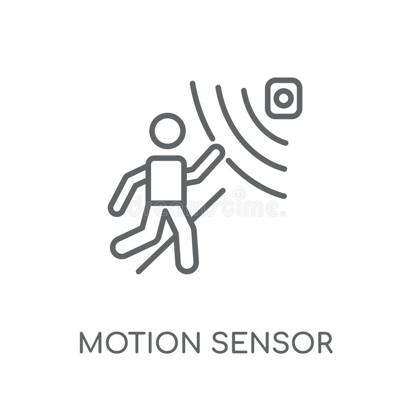Motion sensor linear icon. Modern outline Motion sensor logo con. Cept on white background from Artificial Intellegence and Future Technology collection stock illustration