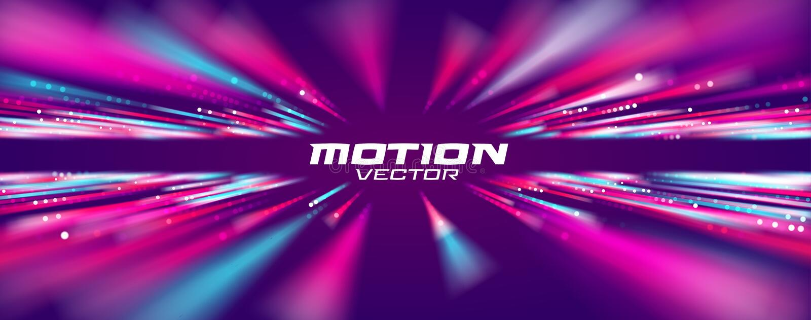 Motion speed line abstract vector background, Moving effect light stock illustration
