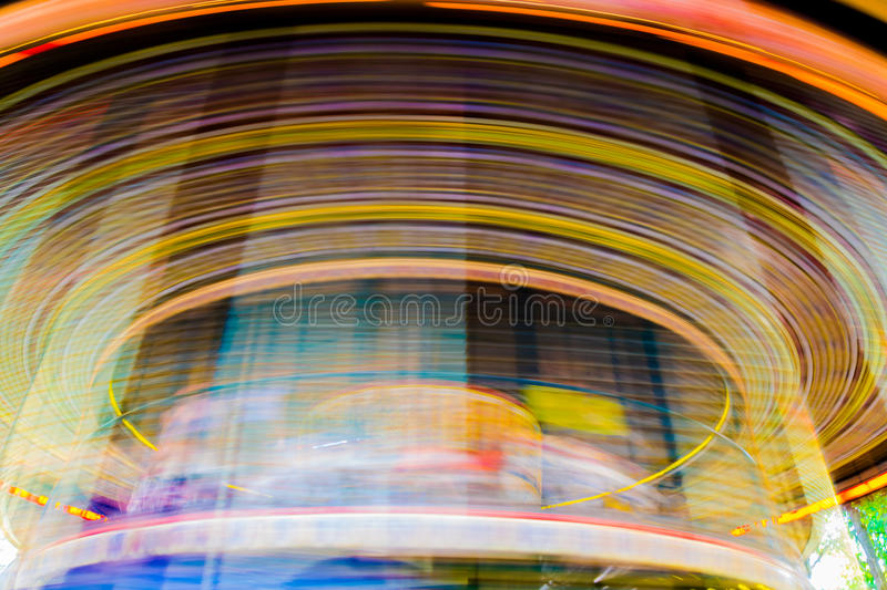 Motion of vintage merry-go-round carousel. Motion blurr of vintage merry-go-round carousel stock images