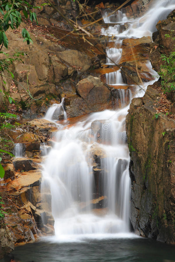 Motion of waterfall in national park. At Chanthaburi Thailand royalty free stock photos