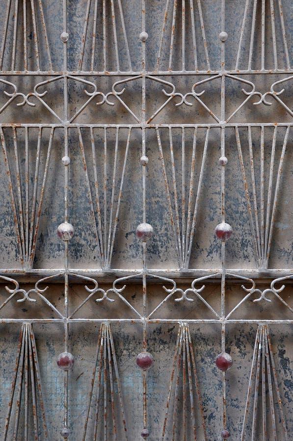 Motiv för abstrakt begrepp för dörrskyddsgaller royaltyfri bild