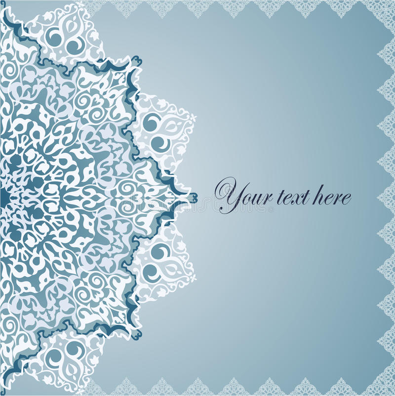 Motiv för ottoman för tappningbakgrund traditionella. stock illustrationer