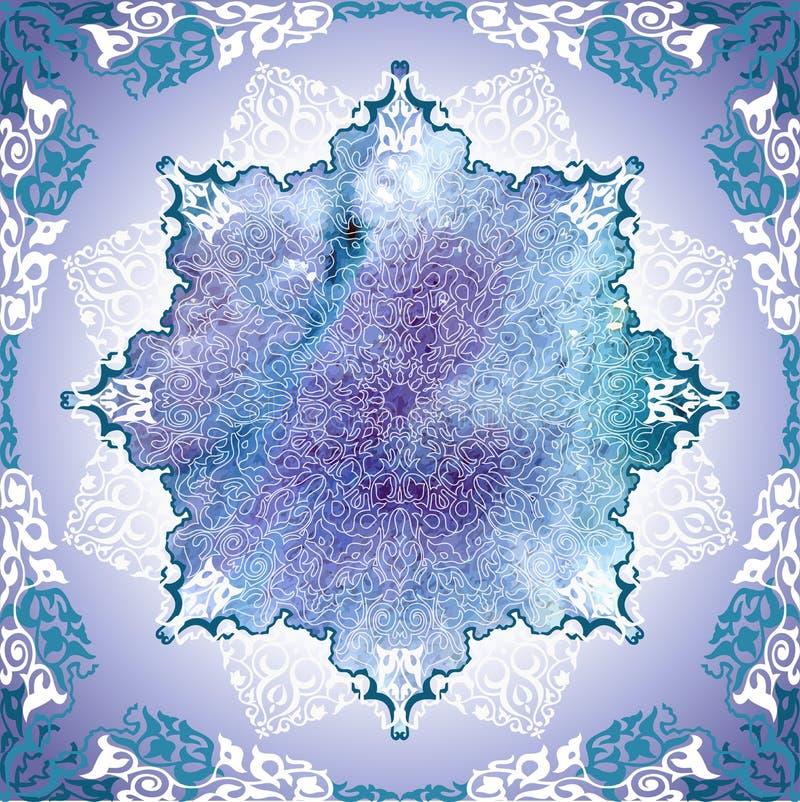 Motiv för ottoman för tappningbakgrund traditionella. royaltyfri illustrationer