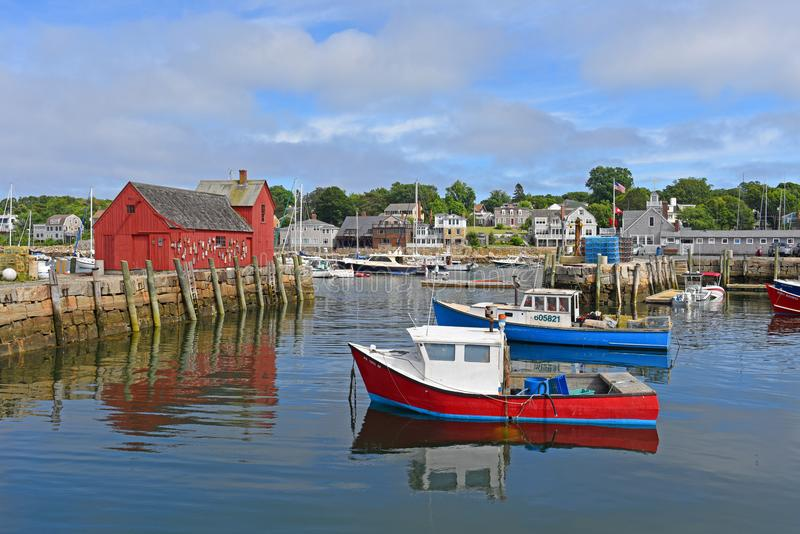 Motiv Nr. 1, Rockport, Massachusetts lizenzfreies stockfoto