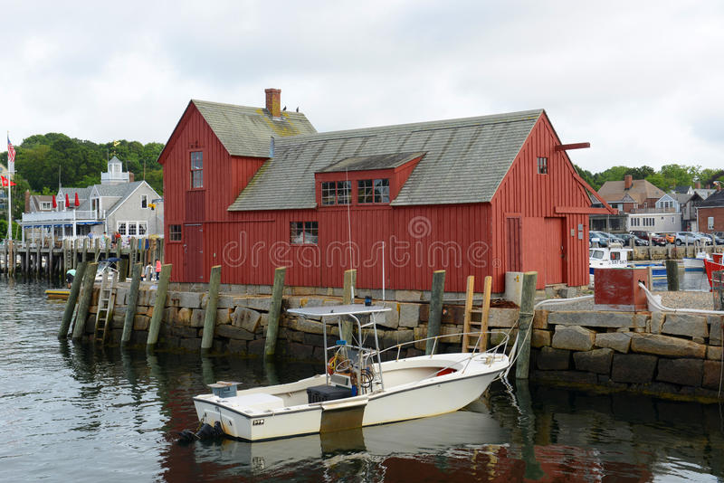 Motiv Nr. 1, Rockport, Massachusetts stockbild