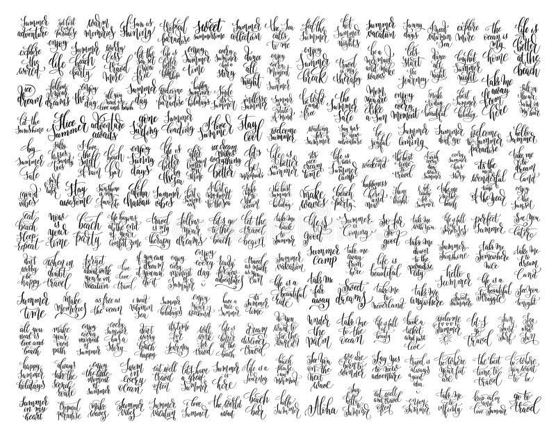 motivação 200 e citações inspiradas sobre o curso do verão ilustração royalty free