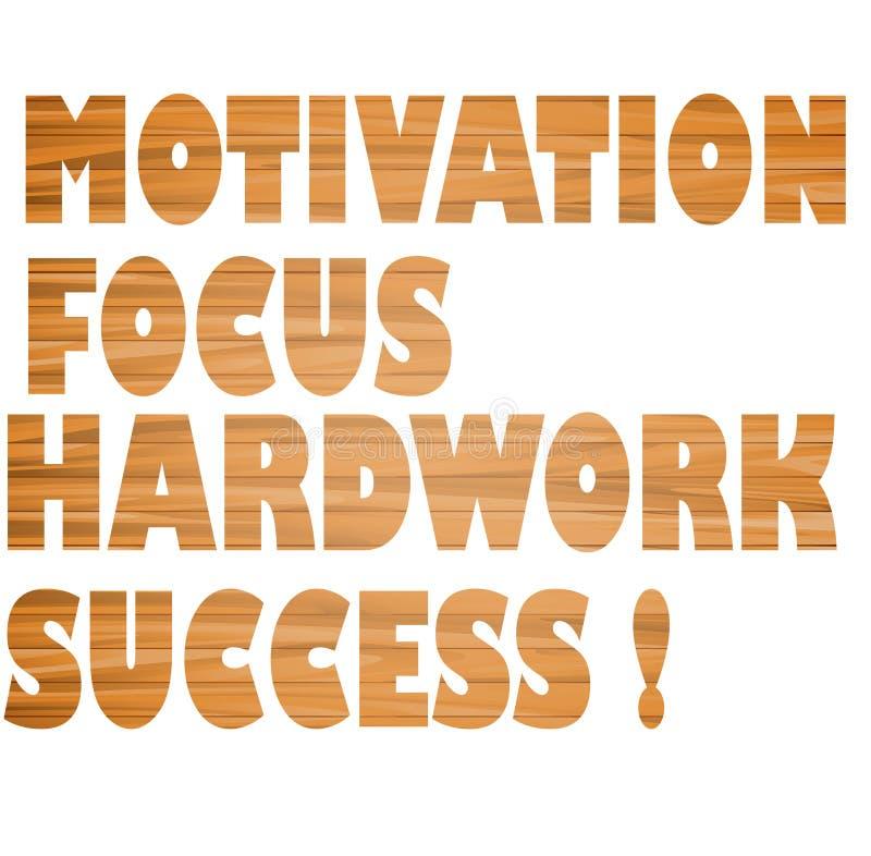 Motivação, foco, trabalho duro, sucesso! ilustração do vetor