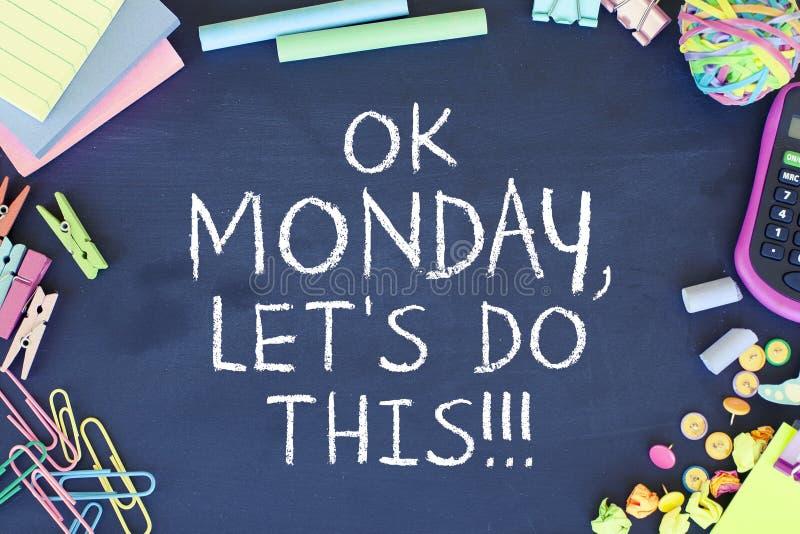 Motivación de lunes fotos de archivo