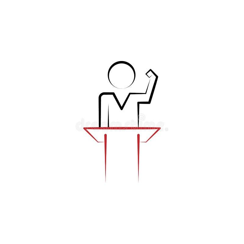 Motivación, discurso, altavoz, línea coloreada icono del hombre 2 Elemento exhausto coloreado simple de la mano del ejemplo discu stock de ilustración