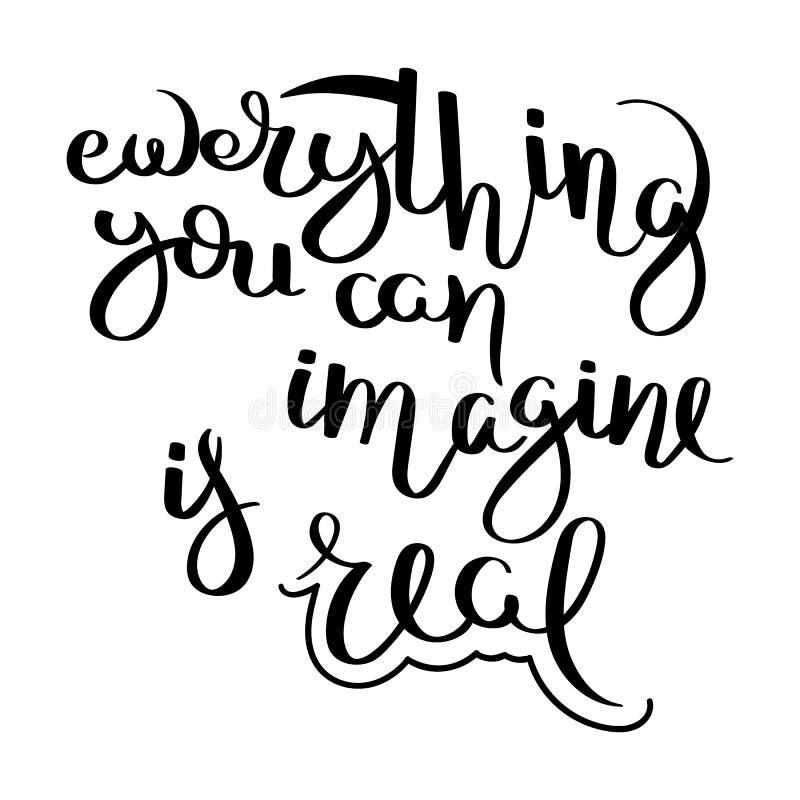 Motivaci?n escrita mano de la cita de la caligraf?a para la vida y la felicidad Para la postal, el cartel, impresiones, carda dis libre illustration